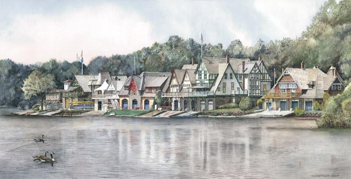 Boathouse Row 6 by N. Santoleri