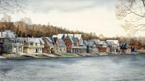 Boathouse Row by N. Santoleri