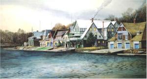 """Boathouse Row 2"" by N. Santoleri"