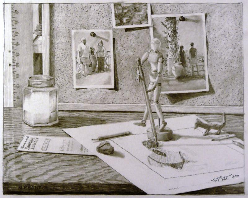 Pencil Drawing in Progress by N. Santoleri