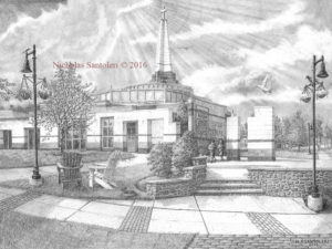 University Art Prints Episcopal Academy Pencil Drawing