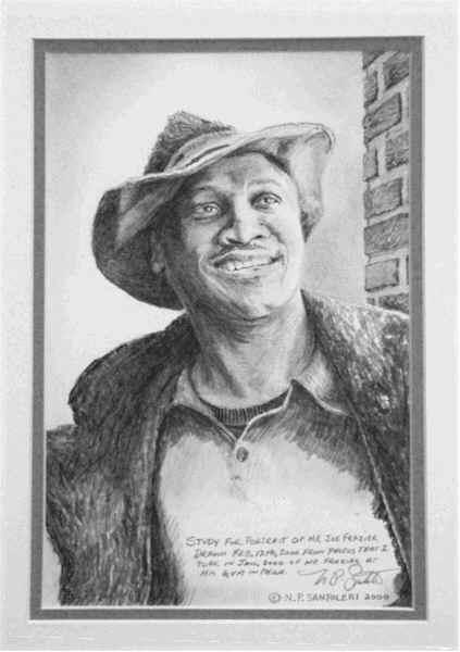 Pencil Portrait of Joe Frazier by Nick Santoleri