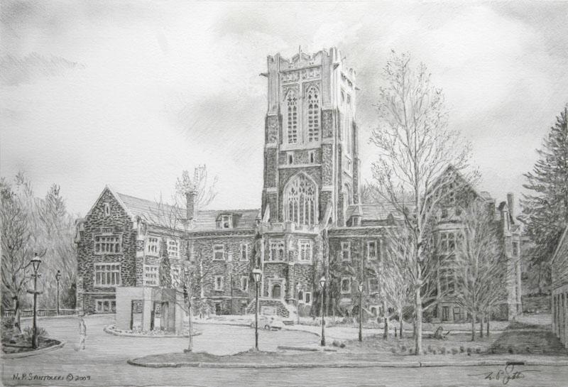 Lehigh Study - Pencil by N. Santoleri