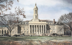 University Art Prints Penn State Old Main by Santoleri