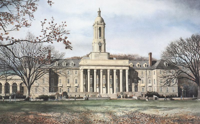"Penn State Artwork ""Old Main""  Penn State Artwork"