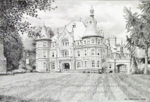 Rosemont College pencil study by Nick Santoleri