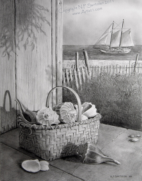Open Edition Prints of Serenity pencil drawing by Santoleri
