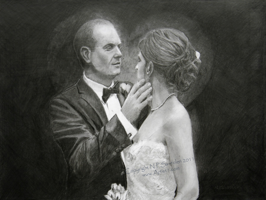 Prints of The Touch pencil drawing by Santoleri 2013