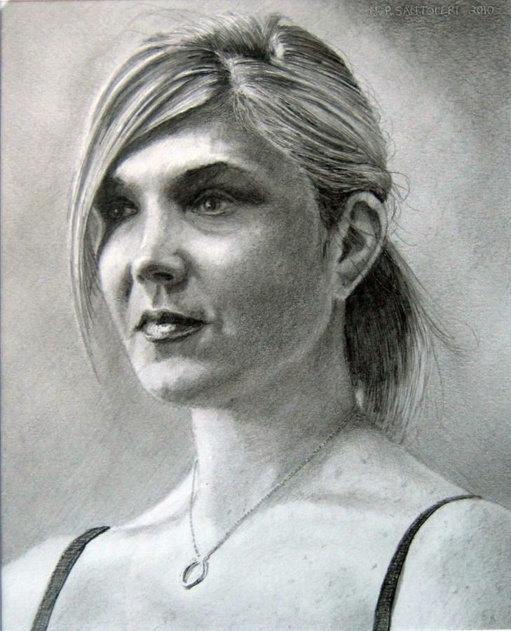 Pencil Portraits - Diamond Necklace by Nicholas Santoleri
