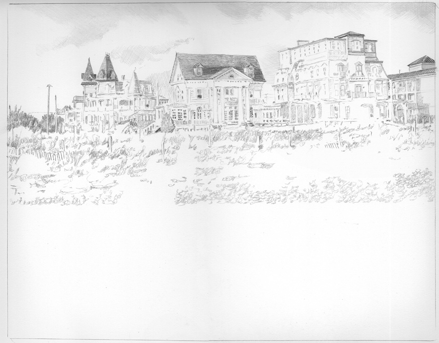 Cape May Drawing in progress 01
