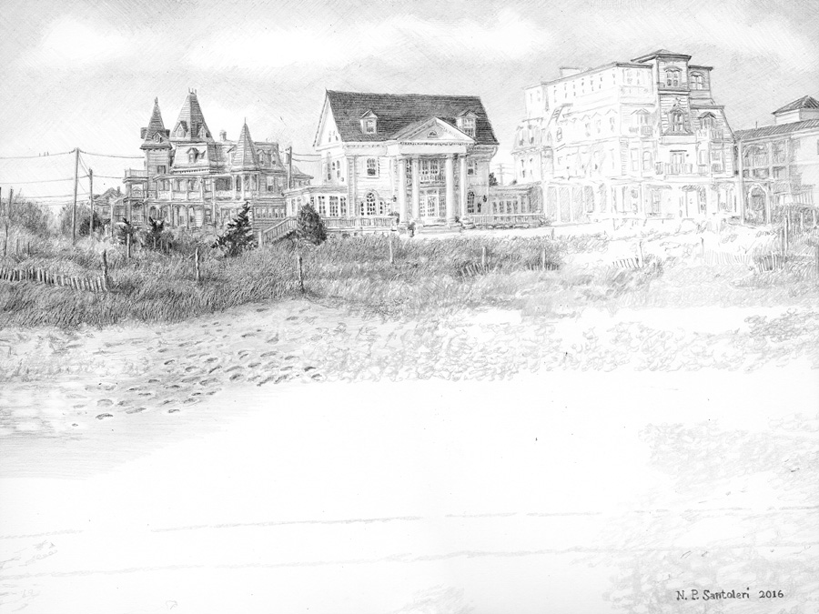 Cape May Drawing in progress 03