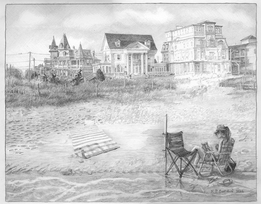 Cape May Drawing in progress 05