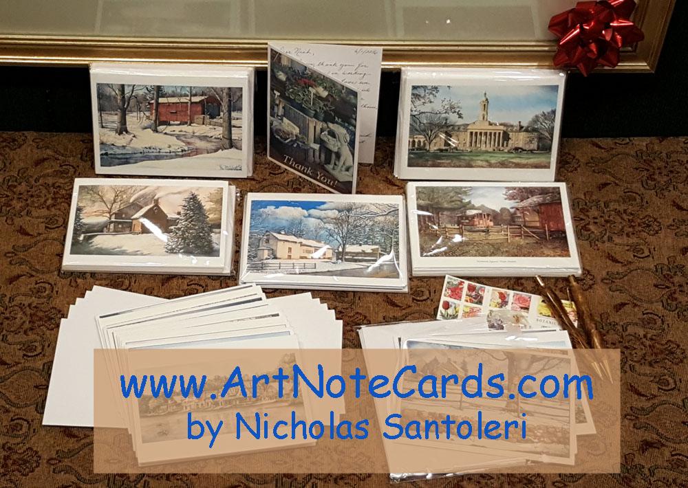 Art Note Cards by Santoleri