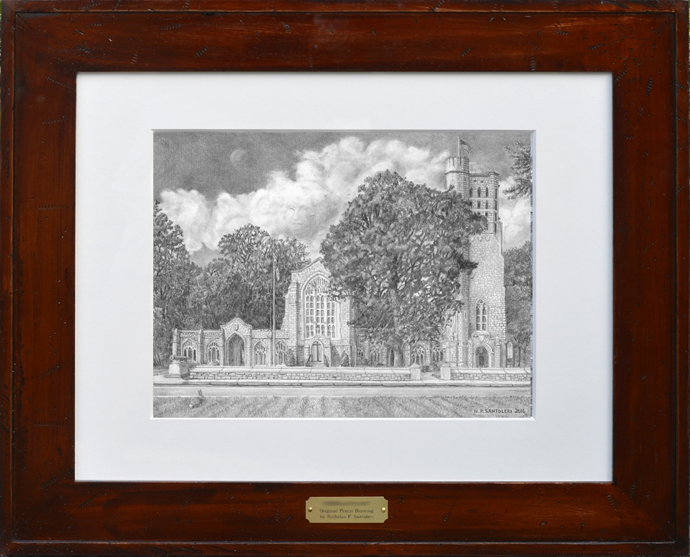 Washington Memorial Chapel Matted & Framed by Nick Santoleri