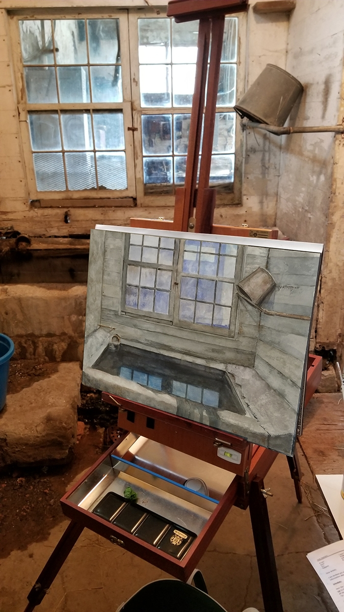 Painting at Kuerner Farm April 15, 2018 Time 6.5 hrs.