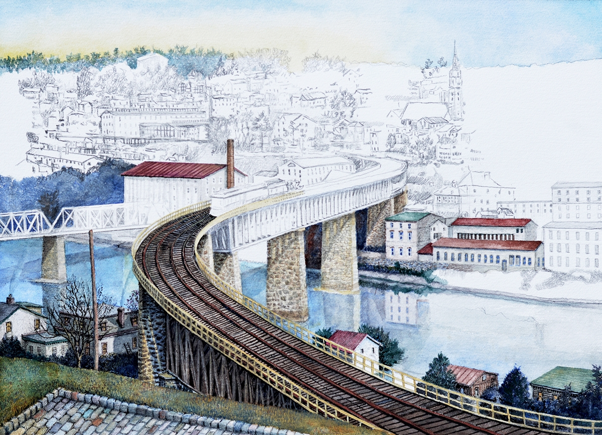 4 - S-Bridge to Manayunk in progress