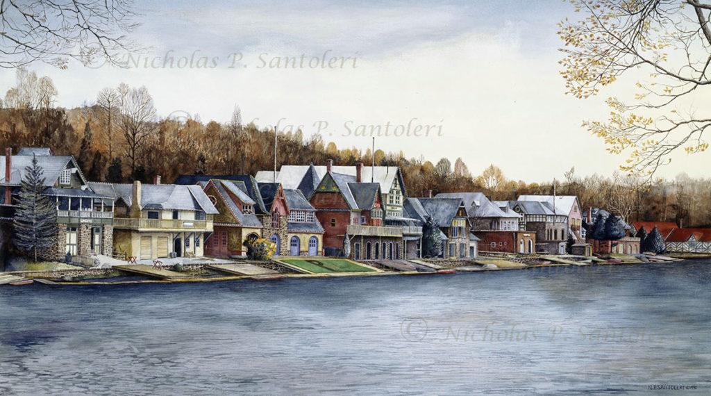 Boathouse Row (1) by Nicholas Santoleri