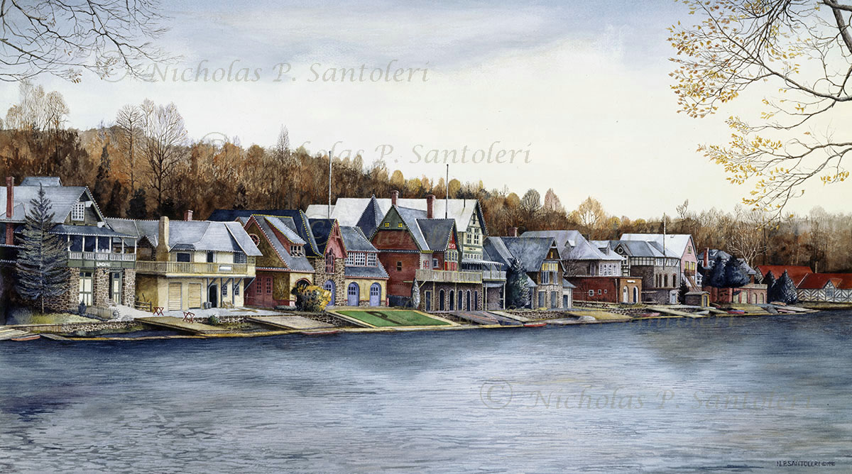 Boathouse Row By Nicholas Santoleri