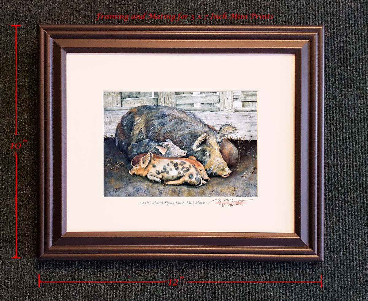 Small Framed Art Prints by Santoleri