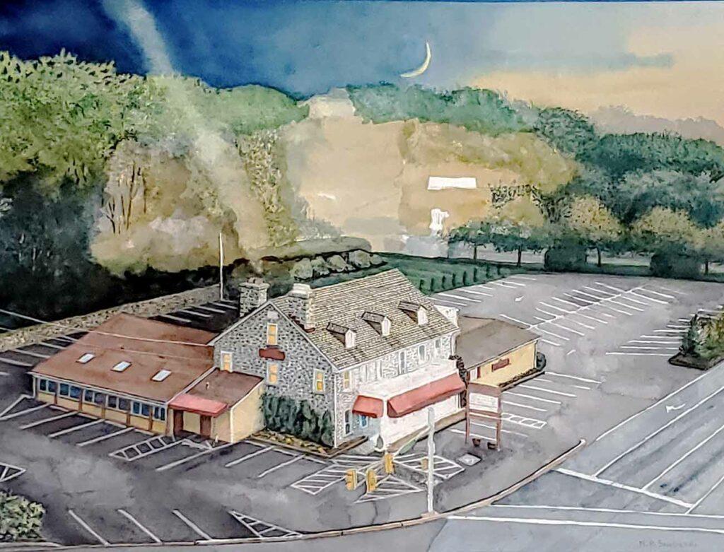 Daybreak at Edgemont painting in progress 03
